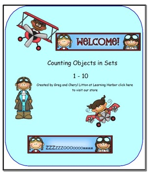 Counting Objects in Sets Airplane Theme