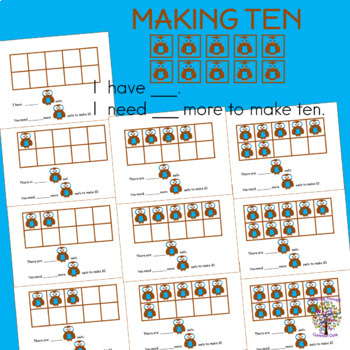 Counting Practice Ten Frames Number Sense FOUR MATH CENTERS
