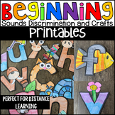 Lowercase Letter Beginning Sound Crafts Printable Activities Distance Learning