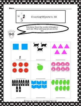 Counting Objects to 10 Worksheet