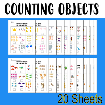 Counting Objects To 10 Worksheets Counting Objects 1 10 Math 20 Sheets