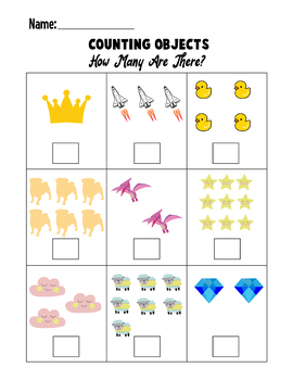 Counting Objects to 10 Worksheets Counting Objects 1-10 ...