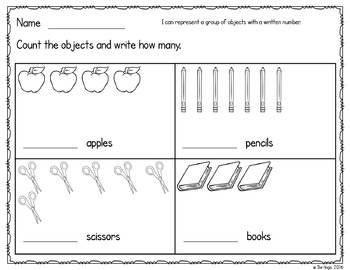 Counting Objects to Represent Numbers Seasonal FREEBIE
