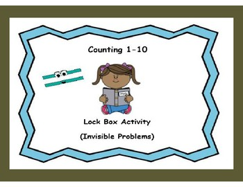 Counting Objects with Numbers 1-10-Lock Box Escape Room Activity