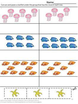 Ocean Animals Counting Cut And Paste Activities Fine Motor Skills