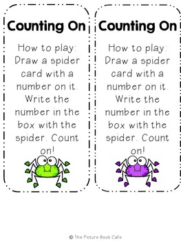 Counting On Math Station Activity (Halloween themed)