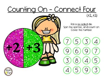 """Counting On (+2, +3) - """"Connect Four"""" Set #2"""
