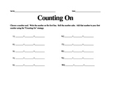 Counting On Addition Activity