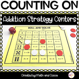 Counting On Addition Strategy Centers and Worksheets