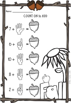 Counting On Addition and Subtraction. FALL THEMED