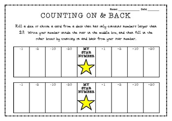 Counting On & Back by 1, 2, 10 & 20