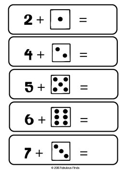 Counting On & Back with Dice