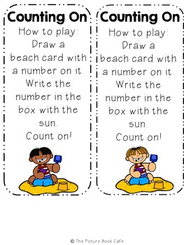 Counting On Math Station Activity (Beach Day themed)