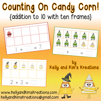 Counting On Candy Corn! {addition to 10 with ten frames}