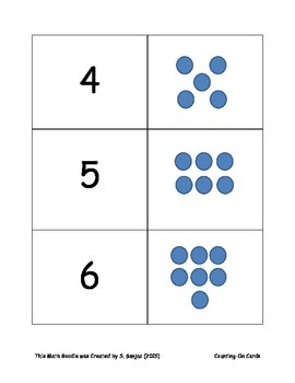 Counting On Cards- Math Station