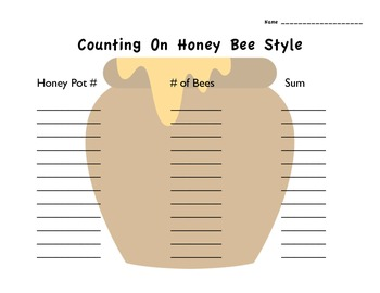 Counting On & Counting Back Honey Bee Style (common core 1.OA.5)