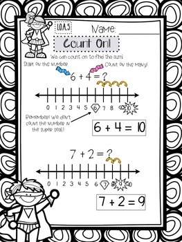 CCSS 1.OA.5 - Counting On & Counting Back Superheroes