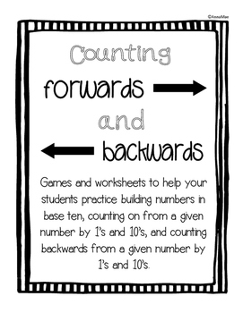 Counting On, Counting Backwards and 10 more and 10 less