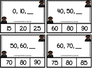 Counting On Dr. King:  LOW PREP Skip Counting Clip Cards