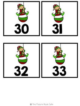 Counting On Math Station Activity  (Elf themed)