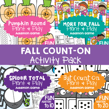 Counting On - Fall Activities for Addition {Counting On Strategy}
