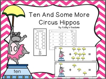 Counting On From 10 Circus Hippo Addition