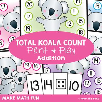 Counting-On Game {Math Center} Total Koala Climb