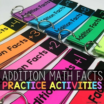 Addition Math Facts Practice Activities