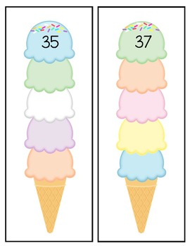 Counting On Station - Ice Cream Cones