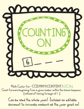 Counting On Math Center (K.CC.A2)