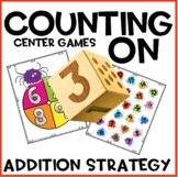 Counting On Addition Center Spinner Spider Game