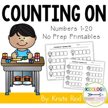 Counting On - Math Strategy Practice Pages