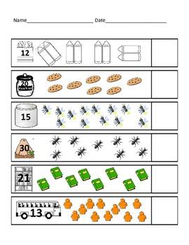 Counting On Practice Numbers to 40 (Kindergarten/1st Grade)