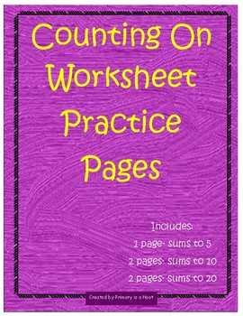 Counting On Practice Pages