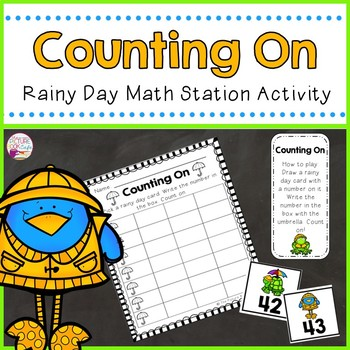 Counting On Math Station Activity   (Rainy Day themed)
