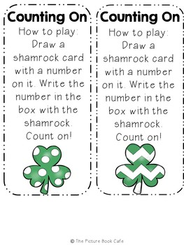 Counting On Math Station Activity  (St. Patrick's Day themed)