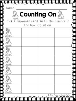 Counting On Math Station Activity  (Snowman themed)