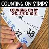 Counting On Strips   Count by Twos  Fives & Tens   Math Center