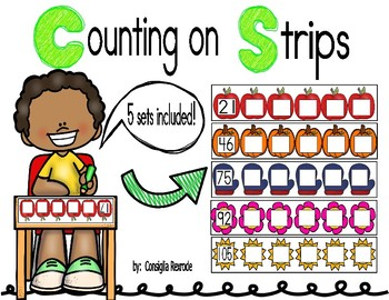 Counting On Strips/Mats for Centers/Independent Practice