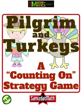 Subtraction Practice Strategy Game - Thanksgiving Themed