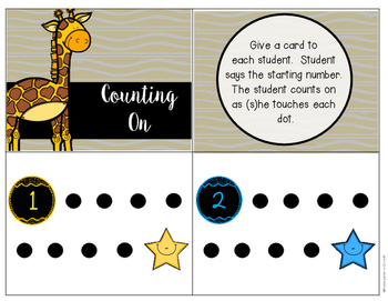 Counting On - Task Cards