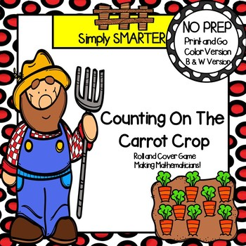Counting On The Carrot Crop:  NO PREP Farm Themed Roll and Cover Game