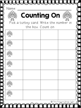 Counting On Math Station Activity (Turkey themed)