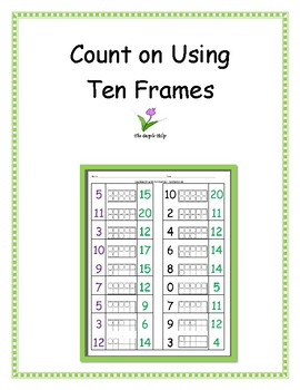 Counting On Using Ten Frames