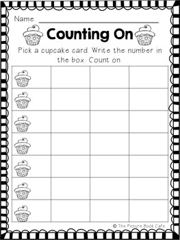 Counting On Math Station Activity  (Valentine's Day themed)
