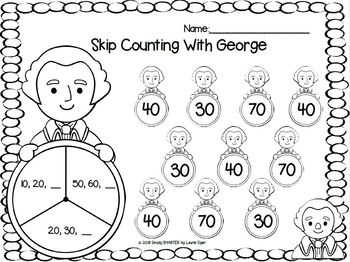 Counting On Washington:  NO PREP Bingo Dauber Spot and Dot Counting Activities