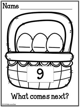 Kindergarten Math Counting On  - Easter Basket