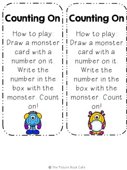 Counting On Math Station Activity (Winter Monster themed)