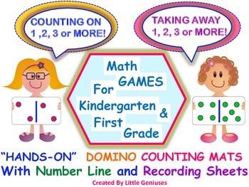 Kindergarten and First Grade Math Mats: Hands-On Fun All Year