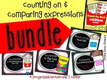Counting On and Comparing Number Expressions Bundle (addition to 20)